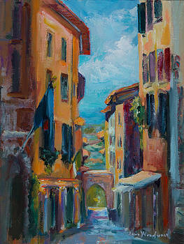 Cortona - Early Morning by Jane Woodward