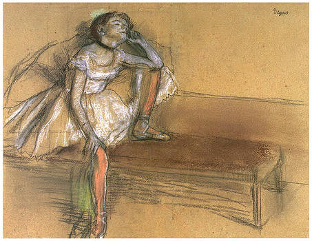 Edgar Degas - Coryphee Resting