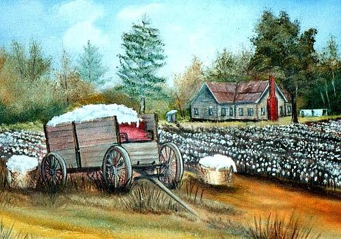 Cotton Wagon by Charles Sims