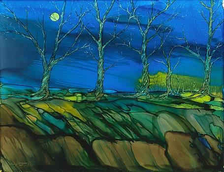 Cottonwood night by Lisa  Marsing
