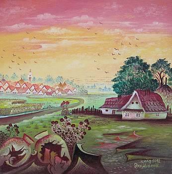 Country Farm by Jan Husarik