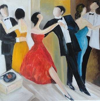 Sold/Couple Dancing by Farid  Fakhriddin 33x33 cm
