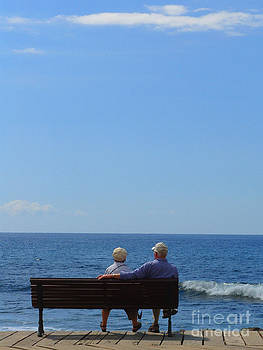 Couple looking at the Sea by Karin Ubeleis-Jones