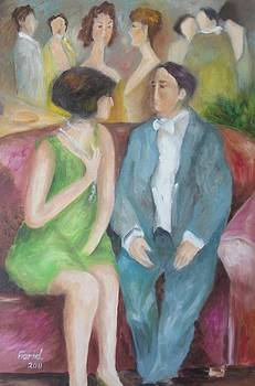 Sold/Couple on a Sofa by Farid  Fakhriddin 60x40 cm