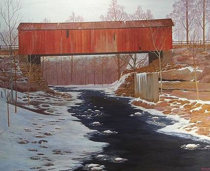 Covered Bridge Early Spring by Dale Lewis