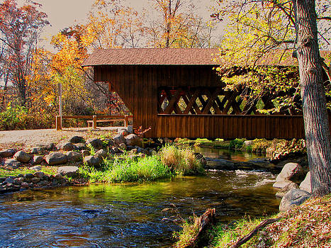 Covered Bridge On The Pine River by Victoria Sheldon