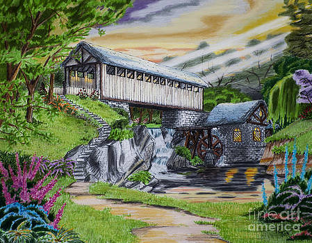 Covered Bridge by Robert Thornton
