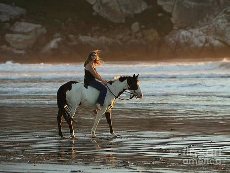 Cowgirl on the Beach by Lori Bristow