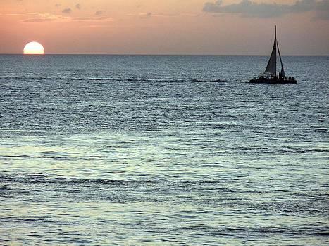 Cozumel Sunset and Sailset by Riley Geddings
