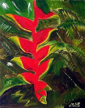 Crab Claw Heliconia by Maria Soto Robbins