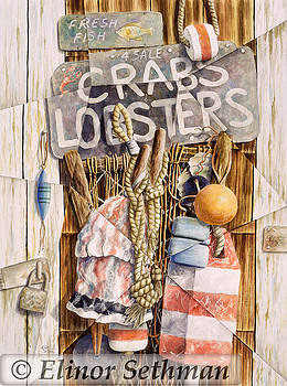 Crabs And Lobsters For Sale by Elinor Sethman