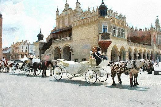 Cracovia main  market place by Boguslaw Florjan