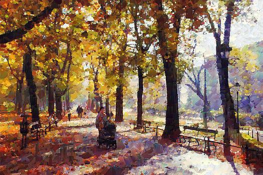 Cracovia park  by Boguslaw Florjan