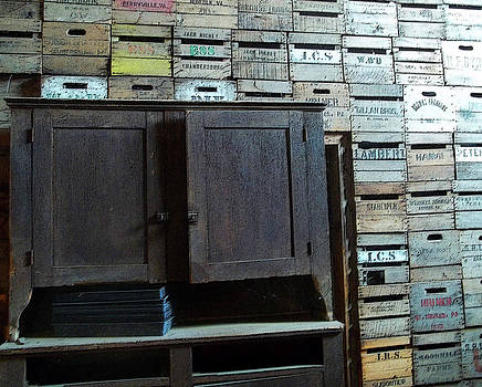Anne Cameron Cutri - Crate wall with hutch