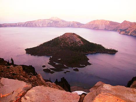 Crater Lake at Dusk by Melissa  Maderos