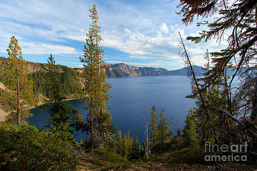 Adam Jewell - Crater Lake Through The Trees