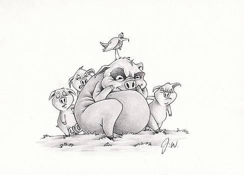 Crazy Pigs by Jamie Warkentin