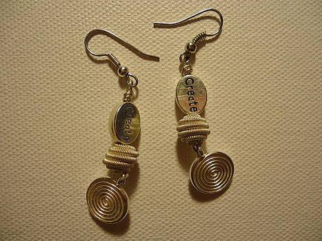 Create in Silver Earrings by Jenna Green