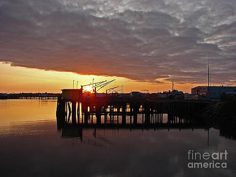 Crescent City Pier at Sunset by Suze Taylor