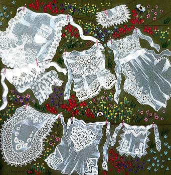 Crisp Lace Aprons In The Breeze by Jenny Sorge
