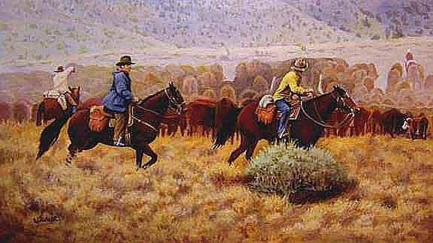 Crossing Behind the Herd by Ronald Wilkinson