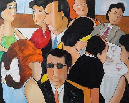 Sold/Crowded Lunch by Farid  Fakhriddin 120x150 cm
