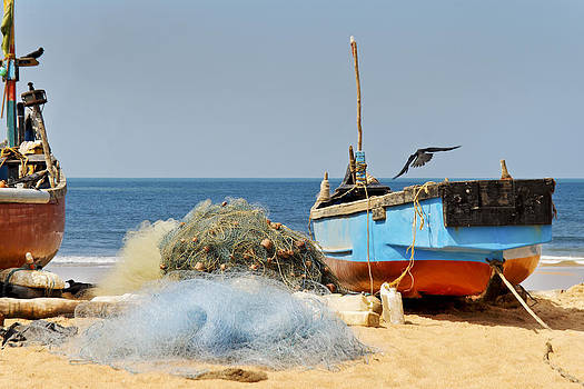 Kantilal Patel - Crows and Goan Boat