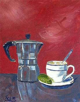 Cuban Coffee and Lime Burgundy by Maria Soto Robbins