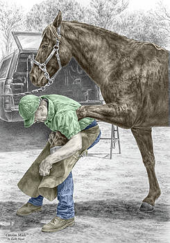 Kelli Swan - Custom Made - Farrier and Horse Print color tinted
