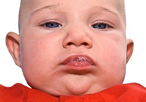Cute Baby Expression by Susan Leggett