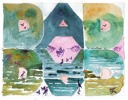 Dad Father's Day Lake Scene by Catinka Knoth