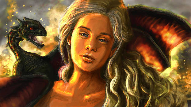 Daenerys Targaryen by Mike  Peers