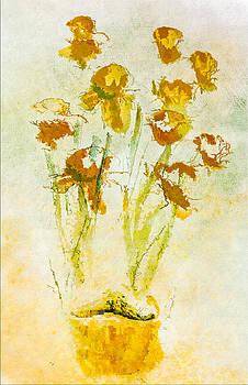 Daffodils In A Pot by Jill Balsam