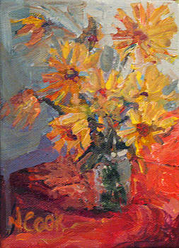 Daisies in October by Nanci Cook