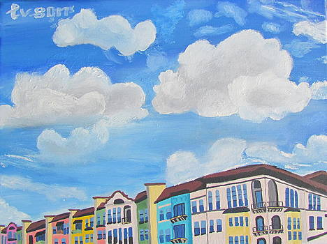 Dallas Clouds by Evgeniya Sohn Bearden