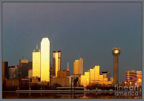 Dallas Sunset from Oak Cliff by Lawrence P Kaster