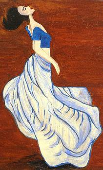 Dancing Girl -Acrylic painting by Rejeena Niaz