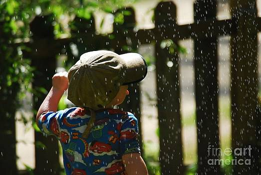 Dancing In The Sprinkler by Crissy Sherman