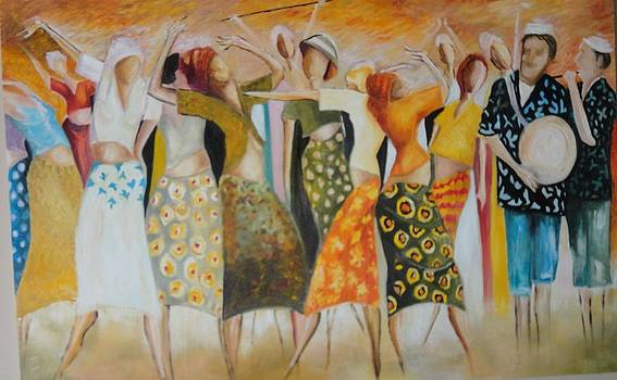 Sold/Dancing on the Beach by Farid  Fakhriddin 80x120 cm