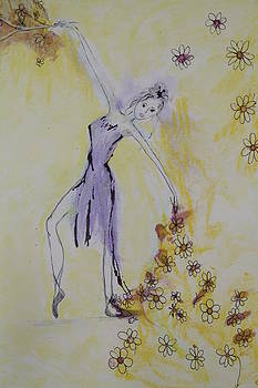 Dancing with flowers by Elisabeth Charbonneau