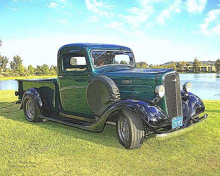 Randall Thomas Stone - Dark Green 1936 Chevy Pickup