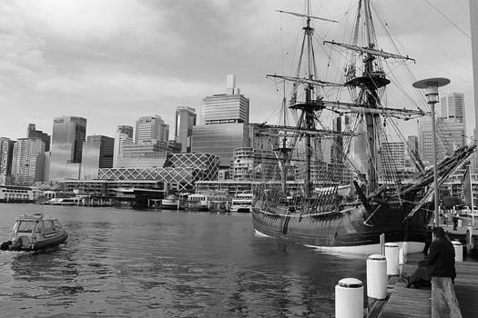 Darling Harbor Sails by Harlan Fijal-Campbell
