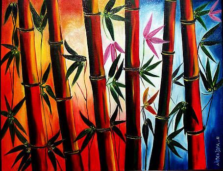 Dawn in Bamboos by Nirendra Sawan