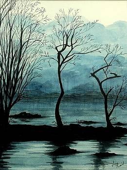 Dawn on Lochlomond by Fay Reid
