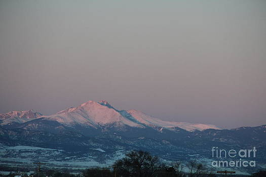 Dawn Over Longs Peak by A Stamp