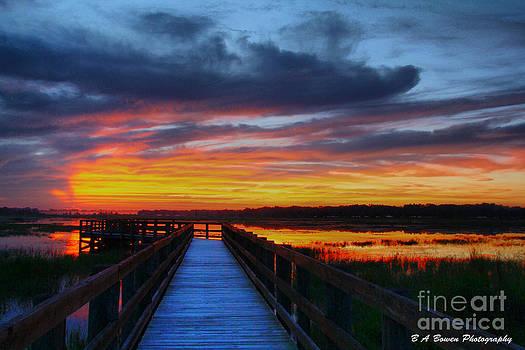 Barbara Bowen - Dawn skies at the fishing pier