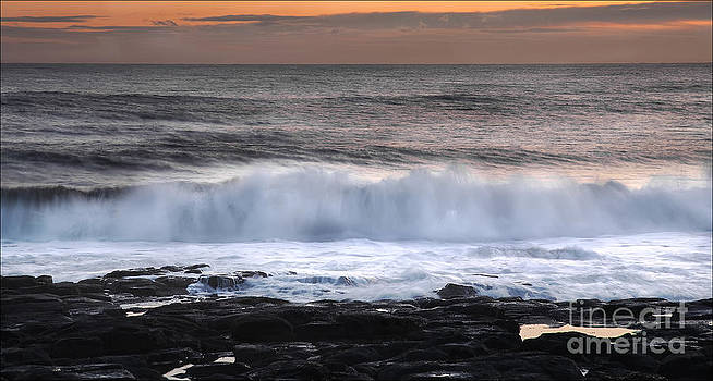 Dawn Tide Dunstanbrough by George Hodlin