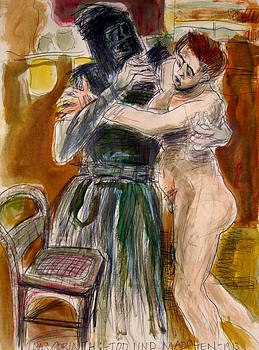 Death and the Maiden After Loivis Corinth by Richard Huntington