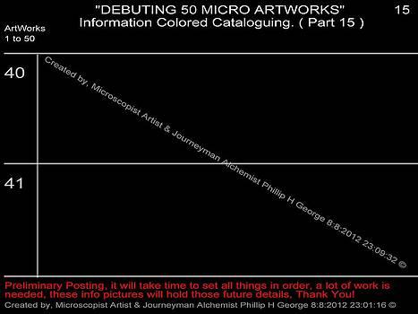 Phillip H George - Debuting 50 Micro Artworks Part 15