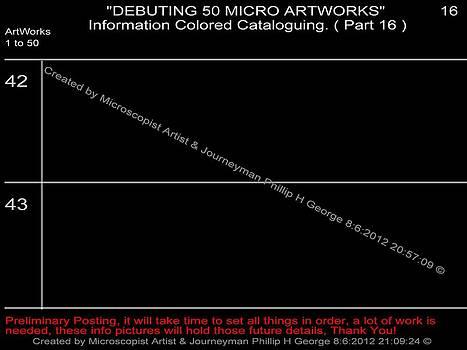 Phillip H George - Debuting 50 Micro Artworks Part 16